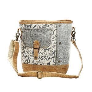 Myra Bag Flap Pocket Cowhide Shoulder 1125